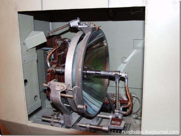 Зеркало кинопроектора с лампой