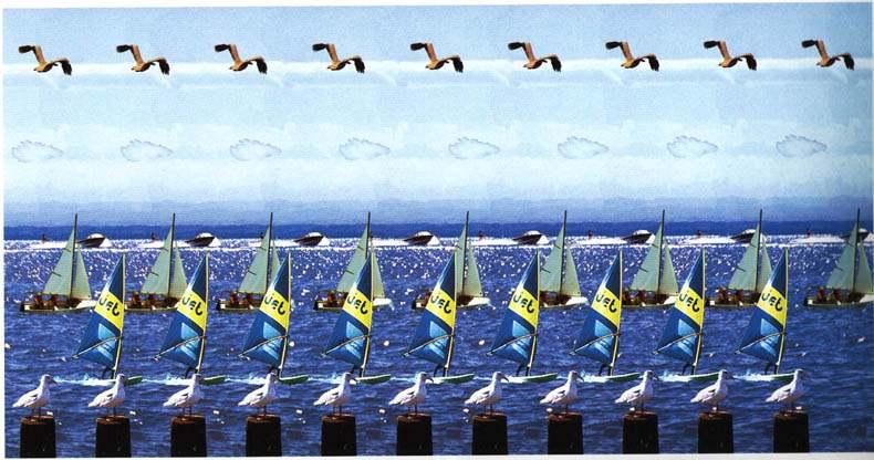 Стереокартинка с яхтами