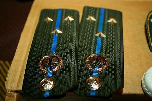 Погоны старшего лейтенанта с синим кантом