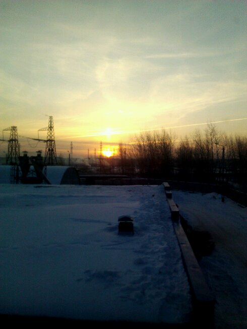 Восход зимой