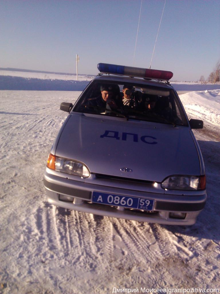 Автомобиль ГИБДД Пермского края Осинского района