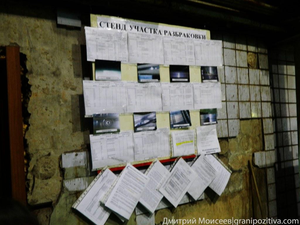 Стенд участка разбраковки компании Найди в Ижевске