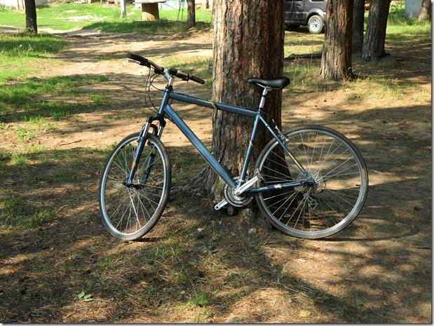 велосипед участника на соревнованиях по велокроссу Cross  Forest в городе Воткинск