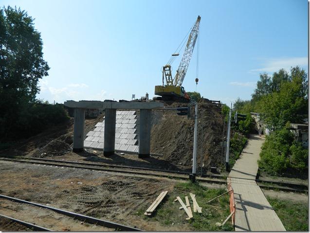 Ремонт горбатого моста в Чайковском