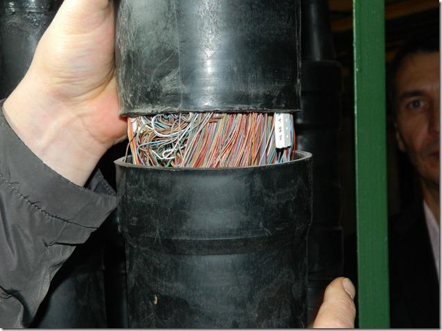 Муфта медного кабеля связи