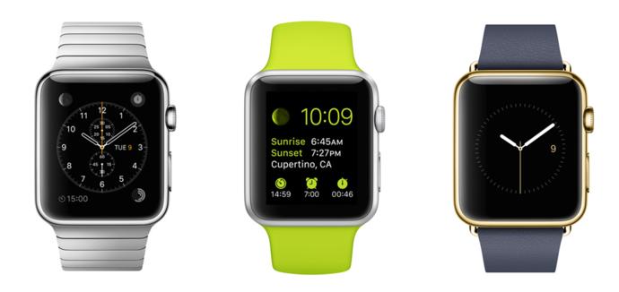 Часы Apple Watch три вида