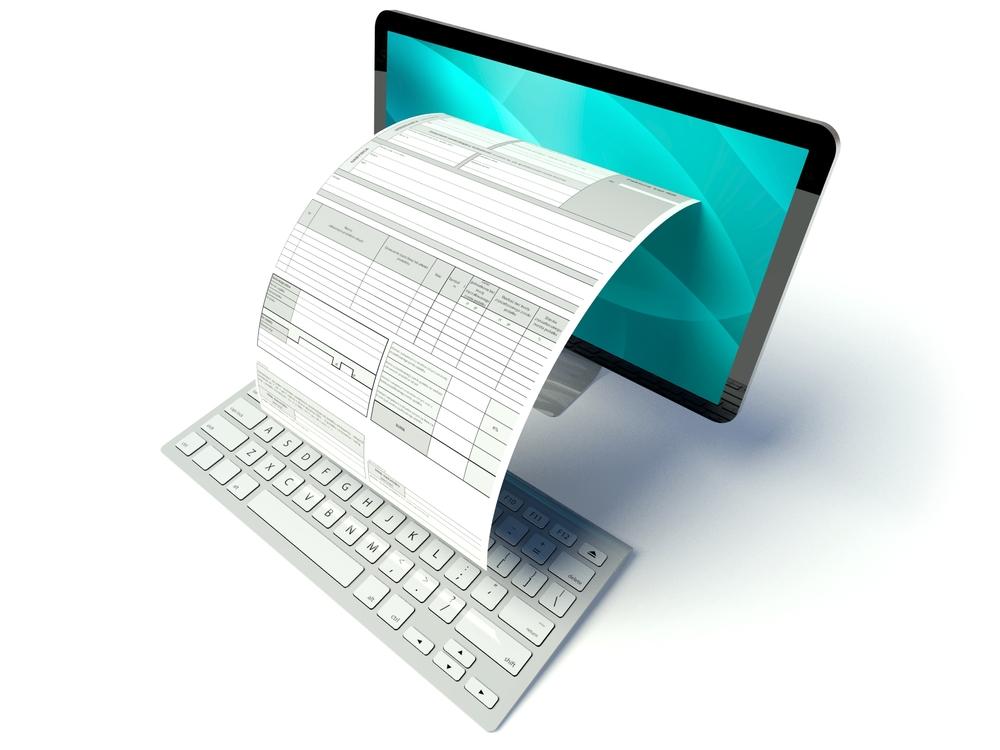 Документ выходит из экрана компьютера