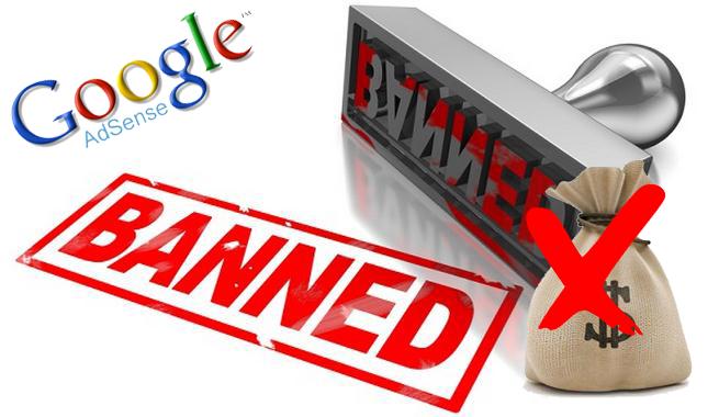 Сообщение о отключении в Google Adsense