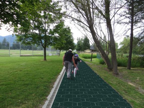 велосипедная дорожка из солнечных батарей