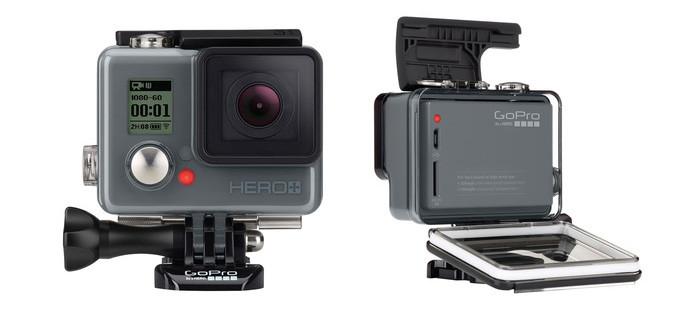 GoPro Hero+ фото передней и задней части