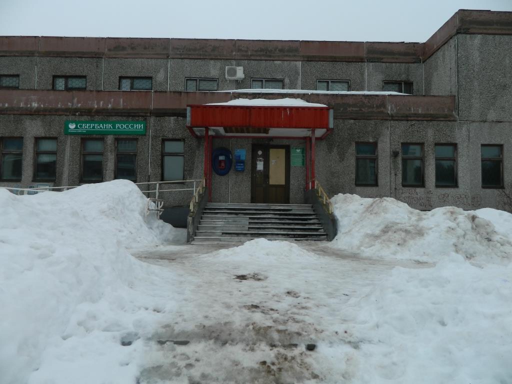 Крыльцо почты России в Марковском 6