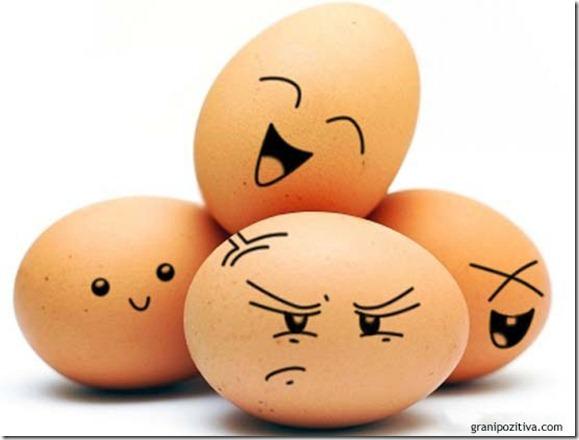 Улыбающиеся пасхальные яйца