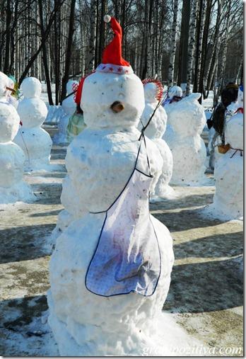 Фото снеговика