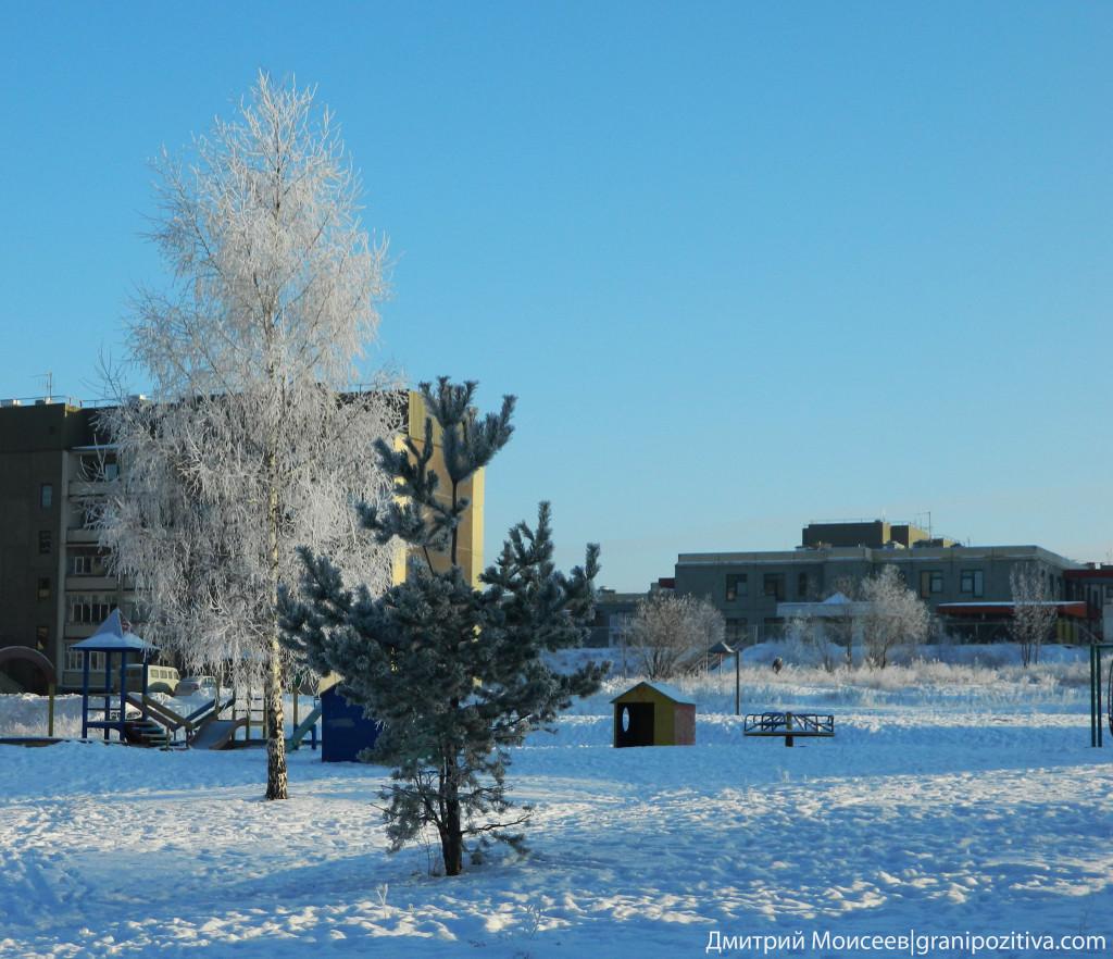 Поселок Марковский зимой
