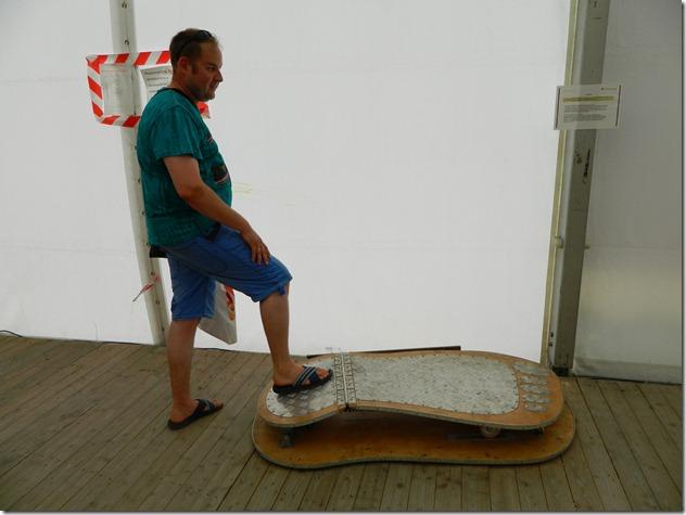 Дмитрий Моисеев на экспонате в эксперементариуме Фестиваль Белые Ночи в Перми