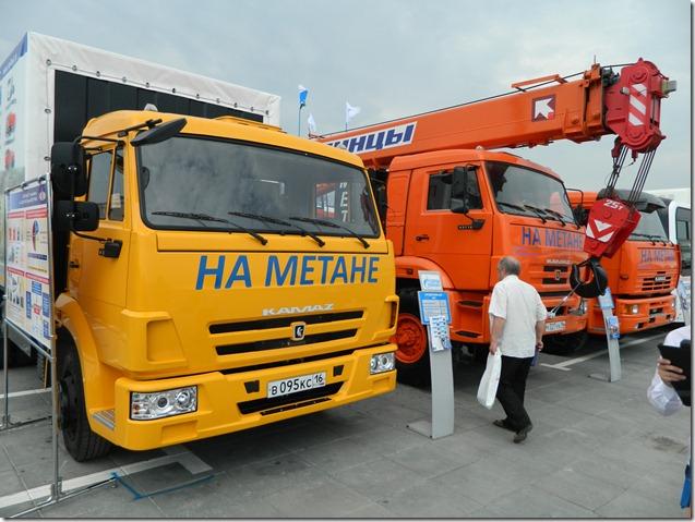 Автомобили и строительная техника на метане на Иннопроме