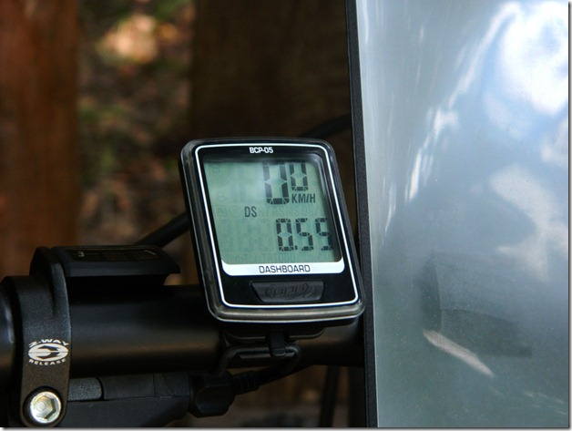бортовой компьютер на руле велосипеда на соревнованиях по велокроссу Cross  Forest в городе Воткинск