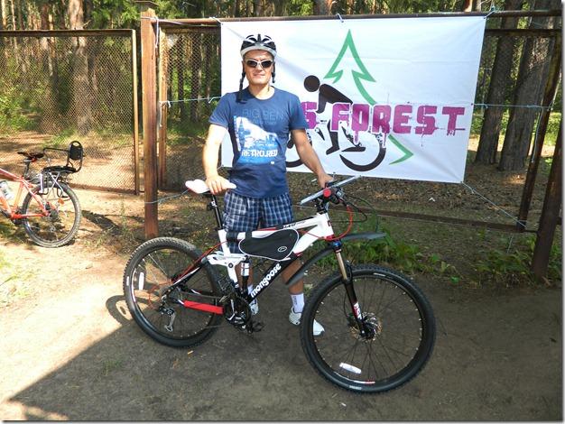 Юрий Шарунов на соревнованиях по велокроссу Cross  Forest в городе Воткинск