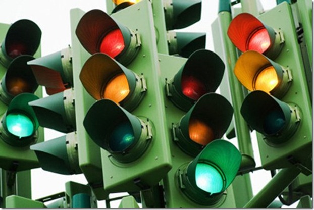 Картинка на которой много светофоров