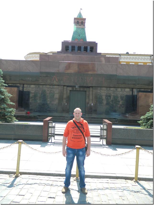 Дмитрий Моисеев возле мавзолея в Москве