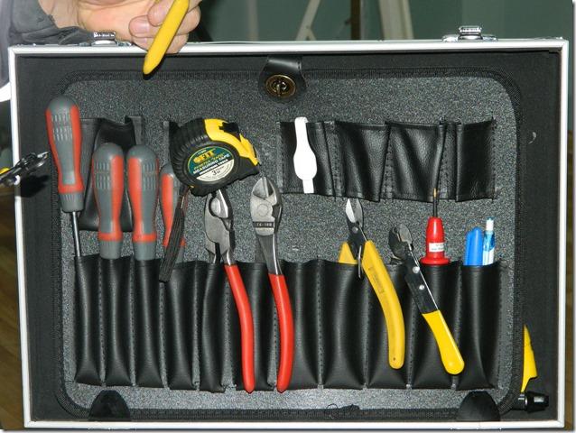 Набор инструментов монтажника оптоволокна