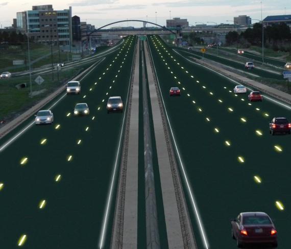 шоссе из солнечных батарей