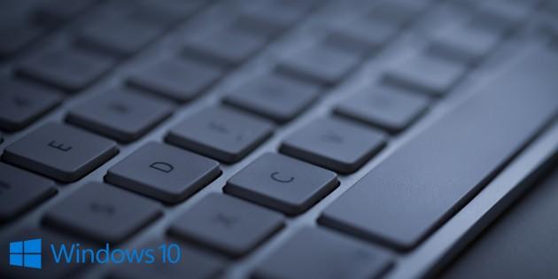Клавиши в Windows 10