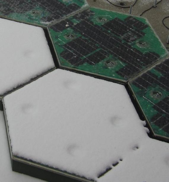 Элементы дороги из солнечных батарей