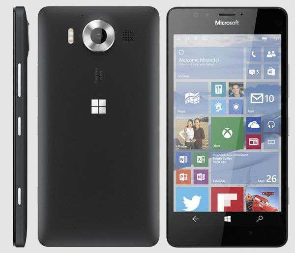 Серый смартфон Nokia на Windows 10
