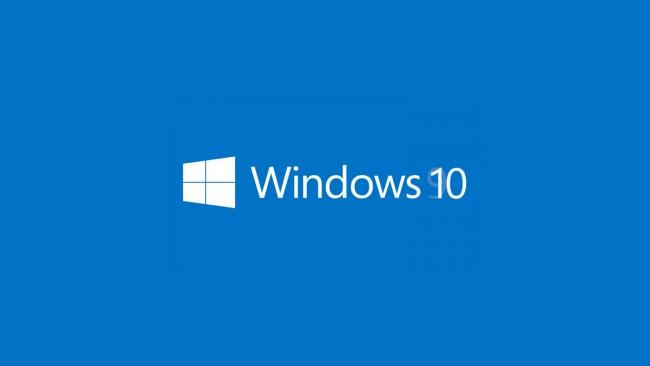 Windows 10 на синем фоне
